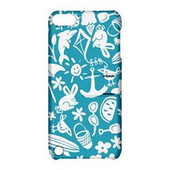 Summer Icons Toss Pattern Apple Ipod Touch 5 Hardshell Case With Stand by Mariart