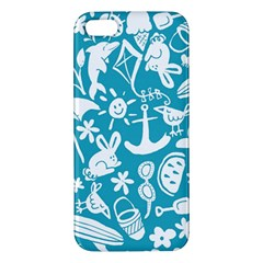 Summer Icons Toss Pattern Apple Iphone 5 Premium Hardshell Case by Mariart