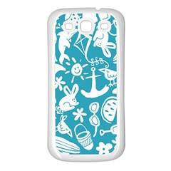 Summer Icons Toss Pattern Samsung Galaxy S3 Back Case (white) by Mariart