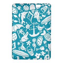 Summer Icons Toss Pattern Kindle Fire Hdx 8 9  Hardshell Case by Mariart
