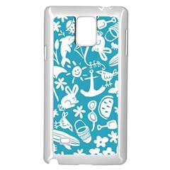 Summer Icons Toss Pattern Samsung Galaxy Note 4 Case (white) by Mariart