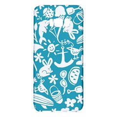 Summer Icons Toss Pattern Samsung Galaxy S8 Plus Hardshell Case