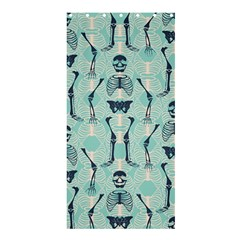 Skull Skeleton Repeat Pattern Subtle Rib Cages Bone Monster Halloween Shower Curtain 36  X 72  (stall)  by Mariart