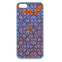 Silk Screen Sound Frequencies Net Blue Apple Seamless Iphone 5 Case (color) by Mariart
