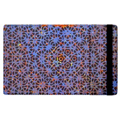 Silk Screen Sound Frequencies Net Blue Apple Ipad 2 Flip Case by Mariart