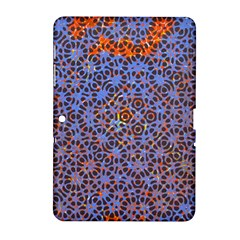 Silk Screen Sound Frequencies Net Blue Samsung Galaxy Tab 2 (10 1 ) P5100 Hardshell Case  by Mariart