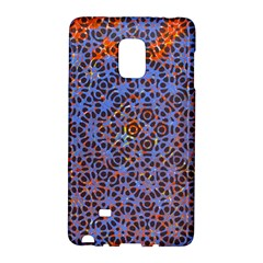 Silk Screen Sound Frequencies Net Blue Galaxy Note Edge by Mariart