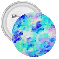 Transparent Colorful Rainbow Blue Paint Sky 3  Buttons by Mariart