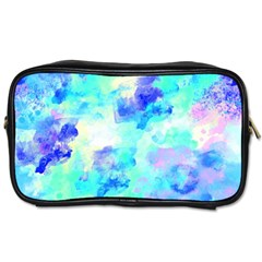 Transparent Colorful Rainbow Blue Paint Sky Toiletries Bags by Mariart