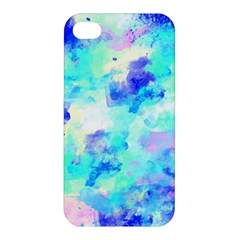 Transparent Colorful Rainbow Blue Paint Sky Apple Iphone 4/4s Premium Hardshell Case by Mariart