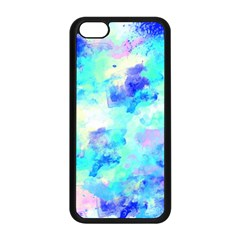 Transparent Colorful Rainbow Blue Paint Sky Apple Iphone 5c Seamless Case (black) by Mariart