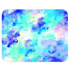 Transparent Colorful Rainbow Blue Paint Sky Double Sided Flano Blanket (medium)  by Mariart