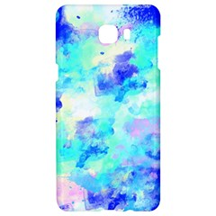 Transparent Colorful Rainbow Blue Paint Sky Samsung C9 Pro Hardshell Case  by Mariart