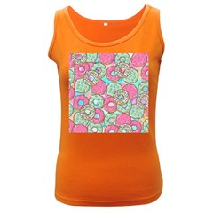 Donuts Pattern Women s Dark Tank Top by ValentinaDesign