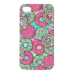 Donuts Pattern Apple Iphone 4/4s Premium Hardshell Case by ValentinaDesign