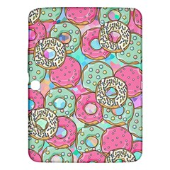 Donuts Pattern Samsung Galaxy Tab 3 (10 1 ) P5200 Hardshell Case  by ValentinaDesign