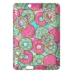 Donuts Pattern Kindle Fire Hdx Hardshell Case by ValentinaDesign