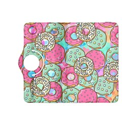 Donuts Pattern Kindle Fire Hdx 8 9  Flip 360 Case by ValentinaDesign