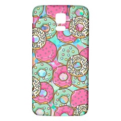 Donuts Pattern Samsung Galaxy S5 Back Case (white) by ValentinaDesign