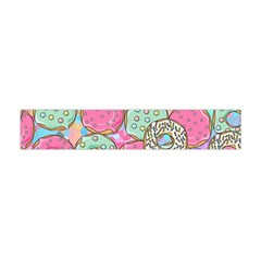 Donuts Pattern Flano Scarf (mini) by ValentinaDesign