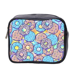 Donuts Pattern Mini Toiletries Bag 2 Side by ValentinaDesign