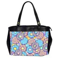 Donuts Pattern Office Handbags (2 Sides)  by ValentinaDesign