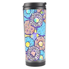 Donuts Pattern Travel Tumbler by ValentinaDesign