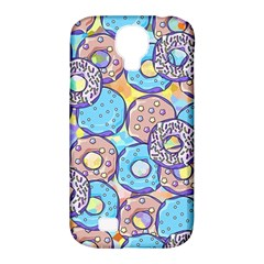 Donuts Pattern Samsung Galaxy S4 Classic Hardshell Case (pc+silicone) by ValentinaDesign