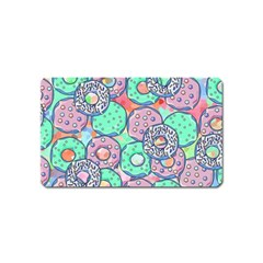 Donuts Pattern Magnet (name Card) by ValentinaDesign