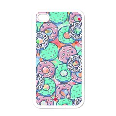Donuts Pattern Apple Iphone 4 Case (white) by ValentinaDesign