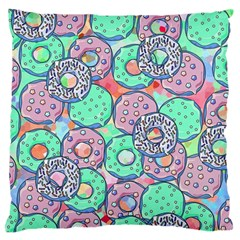 Donuts Pattern Standard Flano Cushion Case (two Sides) by ValentinaDesign