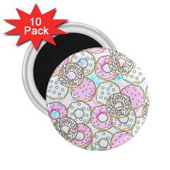Donuts Pattern 2 25  Magnets (10 Pack)  by ValentinaDesign