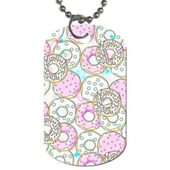 Donuts Pattern Dog Tag (one Side) by ValentinaDesign