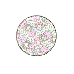 Donuts Pattern Hat Clip Ball Marker by ValentinaDesign