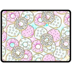 Donuts Pattern Fleece Blanket (large)  by ValentinaDesign