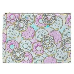 Donuts Pattern Cosmetic Bag (xxl)  by ValentinaDesign
