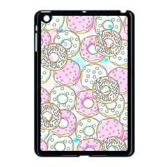 Donuts Pattern Apple Ipad Mini Case (black) by ValentinaDesign