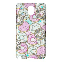 Donuts Pattern Samsung Galaxy Note 3 N9005 Hardshell Case by ValentinaDesign