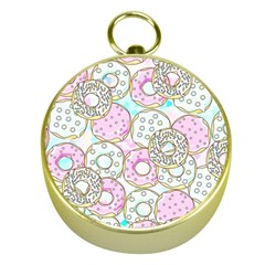 Donuts Pattern Gold Compasses by ValentinaDesign