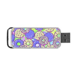 Donuts Pattern Portable Usb Flash (one Side) by ValentinaDesign