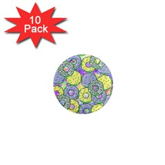 Donuts Pattern 1  Mini Magnet (10 Pack)  by ValentinaDesign