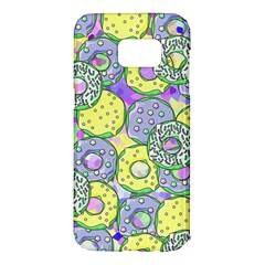 Donuts Pattern Samsung Galaxy S7 Edge Hardshell Case by ValentinaDesign