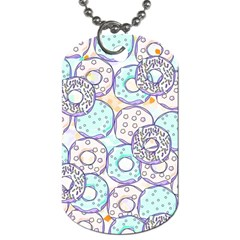 Donuts Pattern Dog Tag (two Sides) by ValentinaDesign