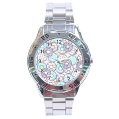Donuts Pattern Stainless Steel Analogue Watch by ValentinaDesign