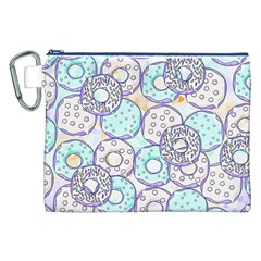 Donuts Pattern Canvas Cosmetic Bag (xxl) by ValentinaDesign