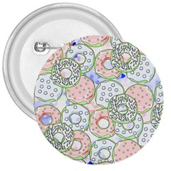 Donuts Pattern 3  Buttons by ValentinaDesign