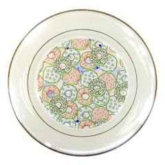 Donuts Pattern Porcelain Plates by ValentinaDesign