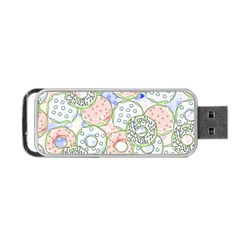 Donuts Pattern Portable Usb Flash (two Sides) by ValentinaDesign