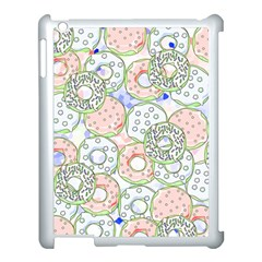 Donuts Pattern Apple Ipad 3/4 Case (white) by ValentinaDesign
