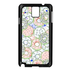Donuts Pattern Samsung Galaxy Note 3 N9005 Case (black) by ValentinaDesign